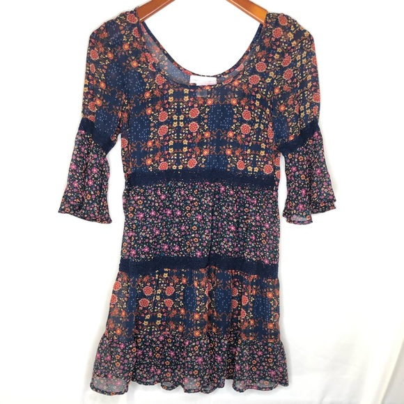 Band of Gypsies Dresses & Skirts - Band of Gypsies tiered boho babydoll dress/ S